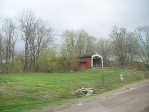 South of Rockville, IN is one of several remaining covered bridges along the route