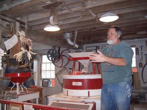 Here we are educated in the fine art of grinding corn into several milled products